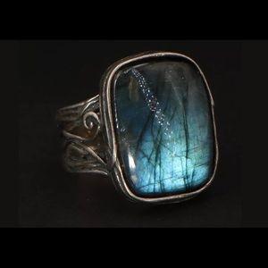 Or Paz Israel Sterling Labradorite Ring 7.25